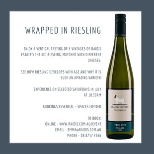 Wrapped in Riesling Sat 16th July